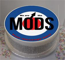 """Novità personalizzato SIAMO I MODS 8"""" Commestibile Glassa Cake Topper Compleanno"""