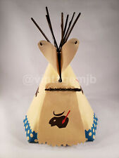 PLAYMOBIL VINTAGE 7067 INDIAN TEEPEE BUFFALO w/BLUE - COMPLETE - NICE CONDITION!