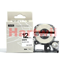 """Compatible Epson Tape Label LC-4WBN9 LW-300  Black on white 12mm 8m 1/2 x 26"""""""