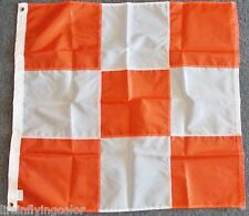 Airfield Safety Flag 3x3' Official White & Orange New USA Made Airport Flag