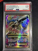 2016 Pokemon PSA 9 Mega Blastoise EX Full Art XY Evolutions 102/108