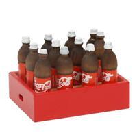 Mini 12 Flaschen Cola in einer Box für 1:12 Miniatur Puppenhaus Getränke D6E0