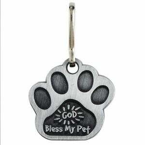 Pet Collar Medal with God Bless My Pet Prayer on Back with 2 FREE Prayer Cards
