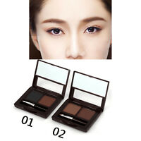 2 Colors Eyebrow Powder Brow Bronzer with Brush Set 2 Eyeliner Pencil As Gift