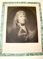 EARLIEST antique 1797 Napoléon Bonaparte young general engraving print portrait