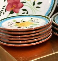 """6 Pc Lot Stangl Country Garden Pattern  6 1/4"""" Floral Design Plates Vintage NEW"""