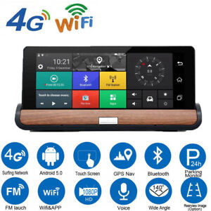 """7"""" Touch Screen Navigation 4G GPS Android Car DVR Camera Wifi Bluetooth Free Map"""