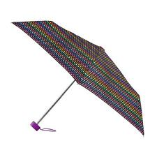 totes Miniflat Bright Bead Stripe Print Umbrella  (3 Section)