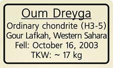 Meteorite label Oum Dreyga