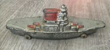 Antique Barclay Slush Cast Metal Toy Navy Ship Aircraft Carrier 1920s Rare!