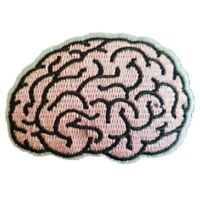 Human Brain - Iron On Patch Sew on transfer