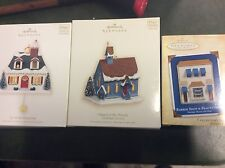 Hallmark 3 House building store ornaments  Keepsake lot collection