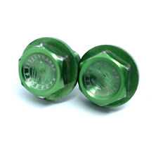 TTN Performance Products Green Anodized Crank Bolts Vintage MTB