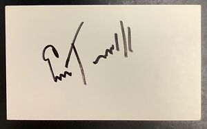 Emlen Tunnell Signed Index Card Football HOF Autograph Giants GB Packers JSA