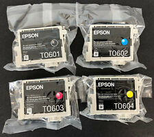 OEM EPSON T0601-T0604 INK GENUINE Set 4 STYLUS C68 C88+ CX4800 CX7800 Sealed #60