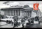 PARIS II° / TRAMWAY de PASSY & ATTELAGES DILIGENCE au PALAIS de la BOURSE 1913