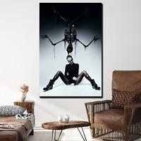 Dark Woman Skull Face and Skeleton Skulls and Dark Art Canvas Print for Wall Dec