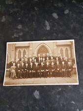 large black tie group photo by gazzette & herald blackpool c1900 plain back