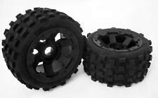 1/5 RC Baja 5B Rear MX Knobby Tyres on 6 Spoke Rims fit HPI Rovan King Motor PRC