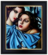 Framed, The Girls Repro, Hand Painted Oil Painting, 20x24in