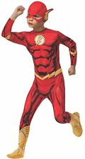 Kids Superhero Boys Classic Licensed Fancy Dress Costume Outfit The Flash 5 - 7 Years 881332