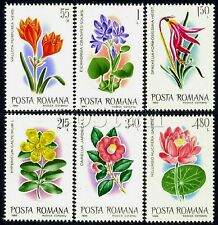 1980 Exotic Flowers,Camelia japonica,Indian lotus,Aztec lily,Romania,Mi.3721,MNH