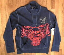 NWT, Canyon River Blues Graphic High Quality Soft Pull-Over 1/2 Zip  Sz M (H-32)