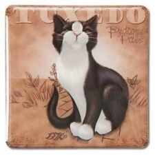 Black & White Tuxedo Square Cat Magnet 46067