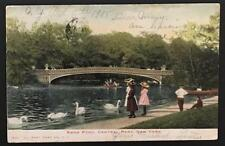 Swan Pond Central Park New York 1905 Illustrated Post Card Co 1942