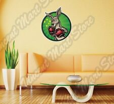 "Kangaroo Boxing Gloves Boxer Fight Wall Sticker Room Interior Decor 22""X22"""