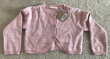 Crazy 8 Pink Sweater Top 2T Girls Newborn Baby Toddler Glitter Jewel Buttons NWT