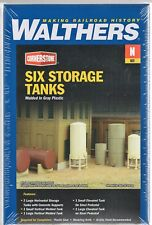N Scale Walthers Cornerstone 933-3265 Storage Tanks Kit (6) pcs