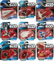 NEW Hot Wheels Die-Cast Star Wars Ships Vehicles Tie Fighter Millennium Falcon