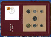 Coin Sets of All Nations Israel 1980-1983 UNC 1 Sheqal 1981 1/2 Sheqal 1983