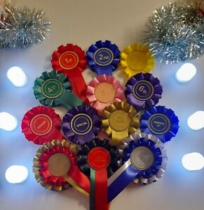 Christmas rosettes game night prizes perfect for games party supplies