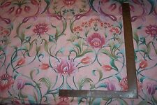 "6 yard bolt Floral Print Cotton Fabric by Cyrus Clark 54"" wide Peach,Mint,Greens"