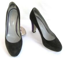 SERGIO ROSSI Escarpins talons 9 cm cuir velours gris & violet 37.5 TRES BON ETAT