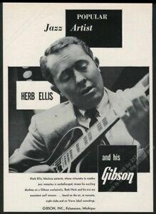 1955 Gibson ES-175? Gitarre Herb Ellis Foto Vintage Aufdruck Anzeige