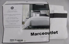 Hotel Collection Coordinated Basics Frame KING Duvet Cover White / Charcoal
