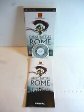 The History Channel: Great Battles of Rome Sony PSP, 2007 version européenne