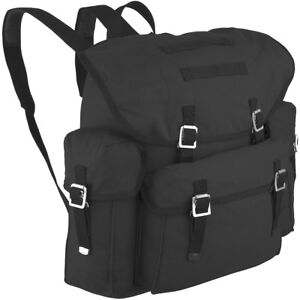 OLD GERMAN ARMY BW MILITARY RUCKSACK BACKPACK COMBAT HIKING CANVAS 30L BLACK