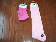 2 Pairs Girls Pink Socks, Size 3-6, NWT
