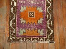 Vintage Turkish Oushak Ushak Yastik Rug Size 1'7''x2&#0 39;5''