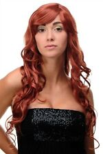 Wig Red Dark Copper Red Curl Wavy Long Side Part 70cm 9204S-135
