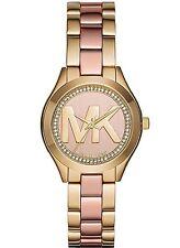NEW Michael Kors MK3650 Women's Mini Slim Runway Rose Gold-tone Dial Watch