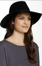 "August Hat Women's 14"" Wool Vintage Poms Felt Floppy hat, BLACK (One Size)"