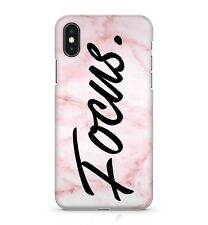 Focus Motivating Quote Amazing Glamorous Pink Marble Effect Phone Case Cover
