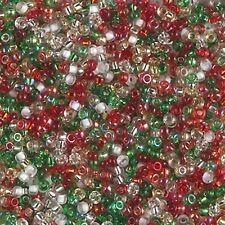 11/0 Happy Holiday Miyuki Round Glass Seed Beads 10 grams