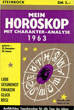 Rarität für Sternzeichen Steinbock, MEIN HOROSKOP MIT CHARAKTER-ANALYSE 1963