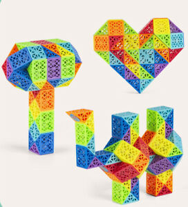 Diansheng 36 60 72 Sections Rainbow Magic Snake Variety Magic Ruler Cube Puzzle